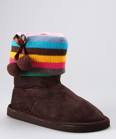 I wish I was rich! My daughter SO needs these brown boots with sweater cuffs! by Simply Petals... only $14.99