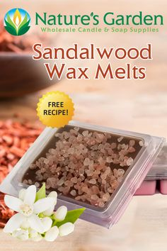 Free Sandalwood Wax Melts Recipe by Natures Garden