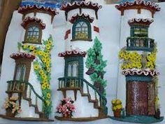 Resultado de imagem para telhas decoradas