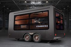 Starbucks pop up Store on Behance Food Cart Design, Food Truck Design, Cafe Design, Design Shop, Store Design, Food Trucks, Coffee Food Truck, Mini Cafe, Commercial Cooking