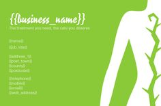 Physiotherapy Business Card (front) designed by me at Nic's Designs.