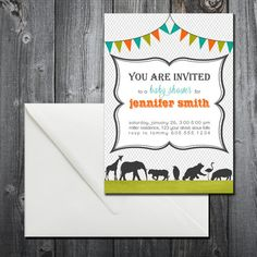 Zoo Animal Invitation - Digital Copy on Etsy, $15.00