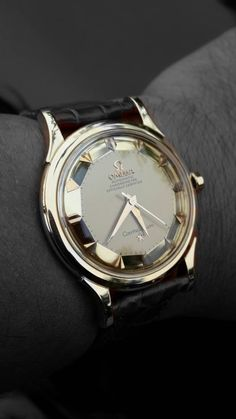 """omegaforums: """" Stunning Vintage Omega Constellation Piepan Deluxe Chronometer In 18K Solid Gold Circa 1950s """""""