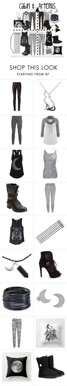 """Cabin 8: Artemis"" by aquatic-angel ❤ liked on Polyvore featuring rag & bone, Malin + Mila, J Brand, maurices, Steve Madden, River Island, ABS by Allen Schwartz, Bling Jewelry, WearAll and UGG Australia"