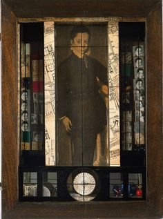 """Medici Slot-Machine"" - Object, 1942 Joseph Cornell (American, one of the many 'surrealist-like' assemblage boxes by Joseph Cornell Vanitas, Joseph Cornell Boxes, Joseph Cornell Artwork, Overlays, Collages, 3d Collage, Collage Artwork, Wal Art, Las Vegas"