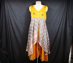Hey, I found this really awesome Etsy listing at https://www.etsy.com/listing/234013330/med-orange-upcycled-bohemian-dress-tea