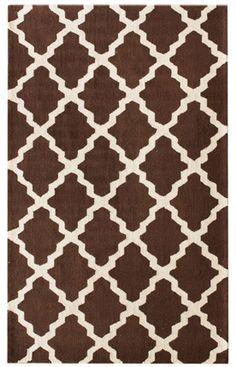 Homespun Modern Trelllis brown Rug | Contemporary Rugs -- 489