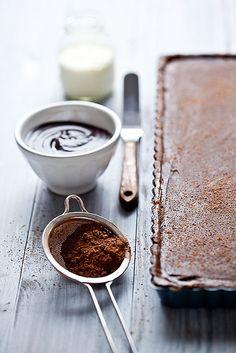 Chocolate Caramel Banana Tart via Tartelette #recipe