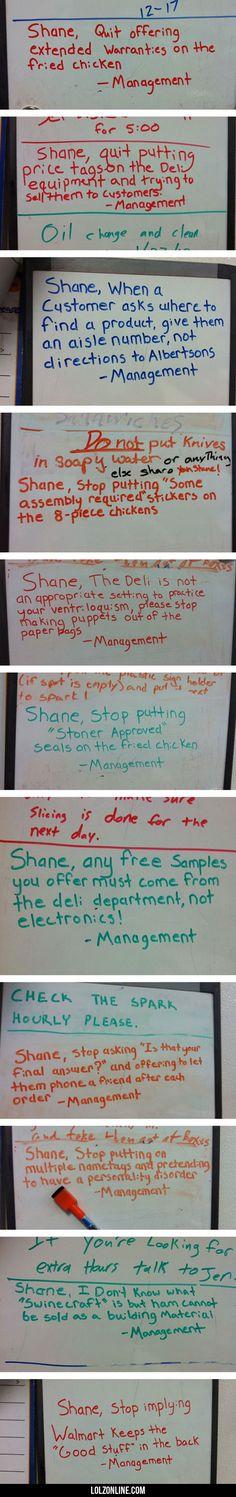 Shane, Quit Offering Extended Warranties#funny #lol #lolzonline