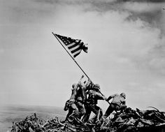 2 world war, memorial, soldiers setting the US flag, history, never forget.