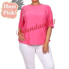 HP!!!Cape Sleeve Top (Pink) ✳️Bundle to save 15%!✳️ Cape sleeve. Loose fit.  92% Polyester 8% Spandex Size recommendations: 1X (14-16), 2X (18-20), 3X (22-24) Made in the USA Boutique  Tops