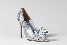 The shoes, created in honor of the new, live-action Cinderella, will be displayed at an exhibit at the Berlin Film Festival.