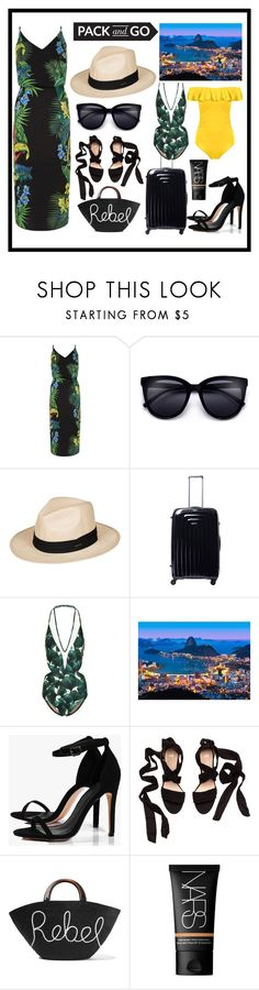 """pack and go - brazil"" by marie-berge ❤ liked on Polyvore featuring Roxy, Home Decorators Collection, ADRIANA DEGREAS, Brewster Home Fashions, Boohoo, Eugenia Kim, NARS Cosmetics, beach, summerstyle and Brazil"