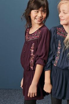 Berry Embroidered Playsuit (3-16yrs)