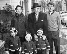 Joe Kennedy with Bobby, Ethel and their kids L to R: Kathleen, Bobby Jr and Joseph