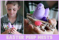 Mommy's Kitchen: Easter Peep Nests {Edible Easter Treats}