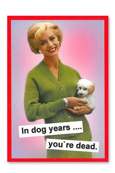 Carte « In dog years »