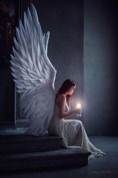 An angel for my new love - # for # love - Zeichnen - Zeichnungen Angel Images, Angel Pictures, Beautiful Angels Pictures, Moon Pictures, Fantasy Girl, Dark Fantasy, Fantasy Queen, Fantasy Town, Fantasy Castle