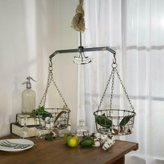 Metal Balance Scale Decor Vintage Inspired Decorative Grocery Scale with Baskets #Vipssci #ANtique