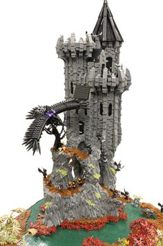#LEGO Zugal's eyrie tower (by Asimon481)
