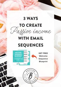 Discover 3 ways to create passive income with email sequences in this guest post by Sarah Anderson on Bluchic's blog.