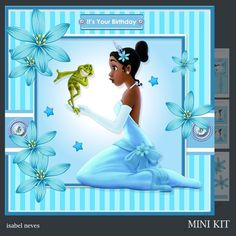 Little Princess - Mini Kit Includes: Card Front, Mini Print & Fold Card, Card Insert, Tiles, Decoupage, Sentiment Tags and Preview