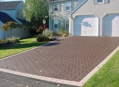 I like this stamped asphalt driveway