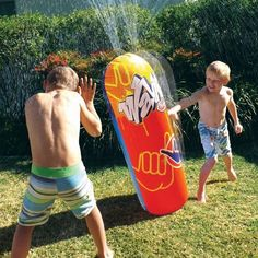 Your Wahu Bash n Splash features a continuous water blast and bounce back action! If you bash it, you will be splashed! That's right! It's a durable bop-bag for your backyard that will keep the kids c