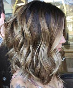 Gorgeous Balayage Highlights on Medium Layered Hairstyles