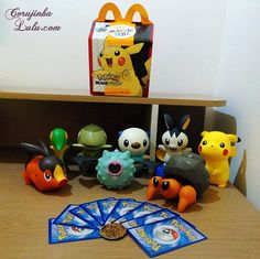 Vem conferir a minha #Coleção #Pokémon do #McLancheFeliz que o #McDonalds lançou em 2012 | www.corujinhalulu.com