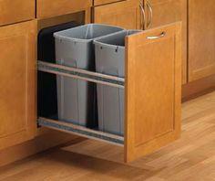 KITCHEN ORGANIZATION SPECIFICATIONS - Häfele Undermount, heavy-duty, soft-closer slide technology for two trash bins.
