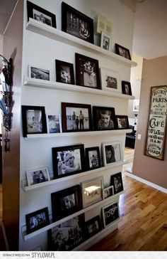 For the living room to streamline look of all family photos,
