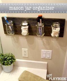I know mason jars are over done but this is cute!
