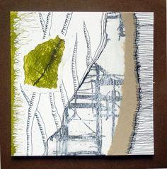 Florence Lefevre - Art abstrait -Papiers divers, encres, pastels - 15x15