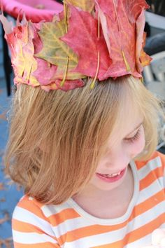 Make leaf crowns- adorable for Fall