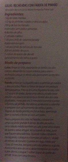 LULAS RECHEADAS COM FAROFA DE PINHÃO