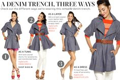 A Denim Trench