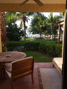 A view from our room overlooking St. Regis Beach Club and Mita Mary Boat Fish Bar.  On Fridays there is a Catch of the Day Ritual @ 11:30am. Choose your fish from the boat as it arrives and they prepare for you!  Amazing fish tacos and oysters.
