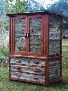 Rustic Barnwood Armoires, Entertainment Centers, and Dressers - custom by Stephen Burlison