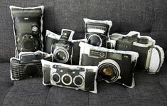 Vintage Camera Pillows.