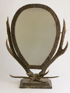 French Oval Standing Mirror, 1880