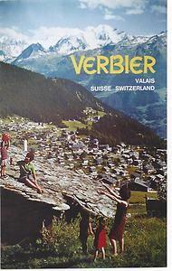Original vintage poster VERBIER VALAIS VILLAGE ALPS c1975 | eBay La Provence France, Vintage Ski Posters, Winter Mountain, Journey, Travel Cards, Zermatt, Old Pictures, Alps, Switzerland