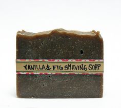 Make this dreamy vanilla and fig scented homemade shaving soap recipe with lanolin and marshmallow root powder.