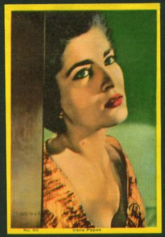 IRENE PAPAS Irene Papas, Zorba The Greek, Katharine Hepburn, Best Actress, Feature Film, Photo Cards, Wonders Of The World, Movie Stars, Mona Lisa