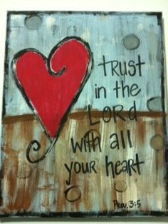 Trust In the Lord Canvas Painting by FaithFinds on Etsy, $25.00
