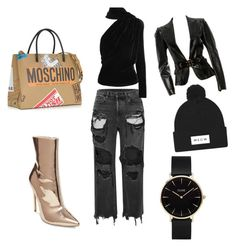 """""""Casual look"""" by umniyastyle on Polyvore featuring Alexander Wang, Gareth Pugh, Steve Madden, Moschino, CLUSE and Gucci"""