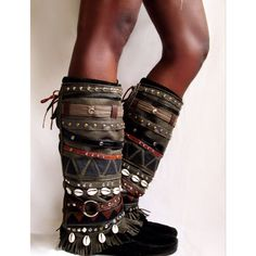 Aunty Entity  Tribal Boot cuffs READY to by LotusRootsCreations