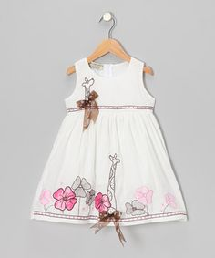 Twirls are twice as nice when a fanciful frock is involved. Rich with charming details like pretty appliqués and bitty bow embellishments, this darling dress is ready to hit the dance floor in sweet style.