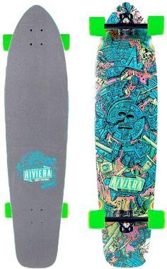 "Riviera Longboards Mayan Myth 41"" Complete Longboard - black trucks/green wheels - Skate Shop > Completes > Longboard Completes"