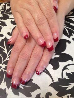 Sexy Bold acrylic French manicure